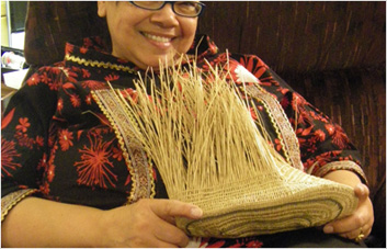 Weaving Grass Socks