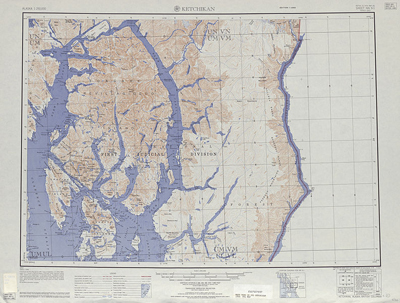 Ketchikan Topographic map Alaska