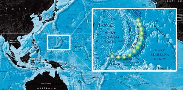 James Cameron map of Mariana Trench