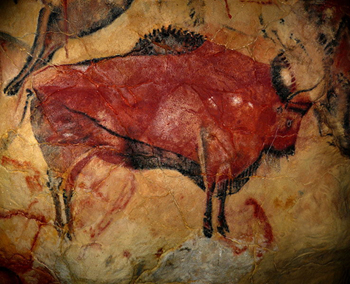 Altamira Cave wall painting steppes bison