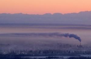 Fairbanks winter day temperature smoke pollution Alaska