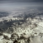 Aniakchak volcanic caldera from above