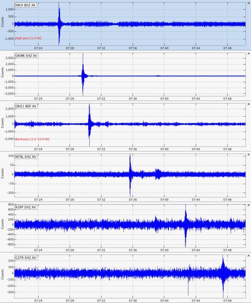 Cleveland Volcano seismic infrasound 2013 eruption