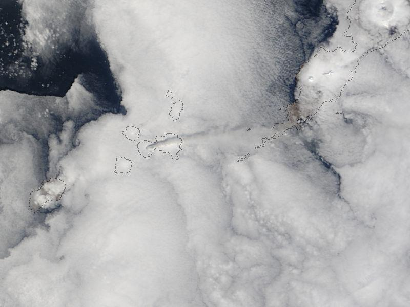 Cleveland Volcano satellite 2013 eruption ash plume