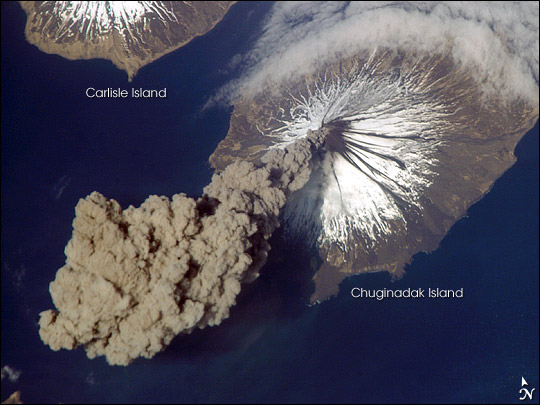 Cleveland Volcano space 2006 ash plume eruption