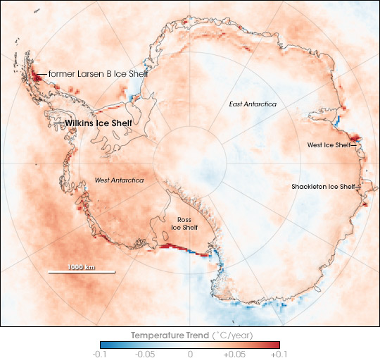 Antarctic temperatures