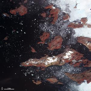 Baffin Bay Greenland iceberg overview