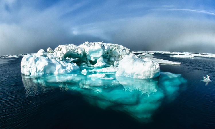 blue-green iceberg