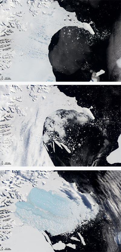 Larsen B ice shelf disintegration