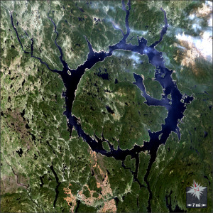 Landsat image Lake Minicougan