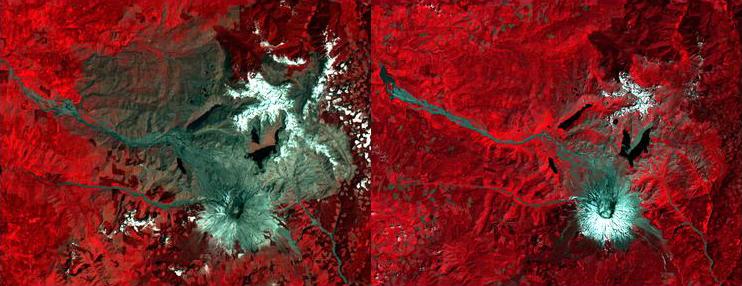 Landsat Mount St. Helens
