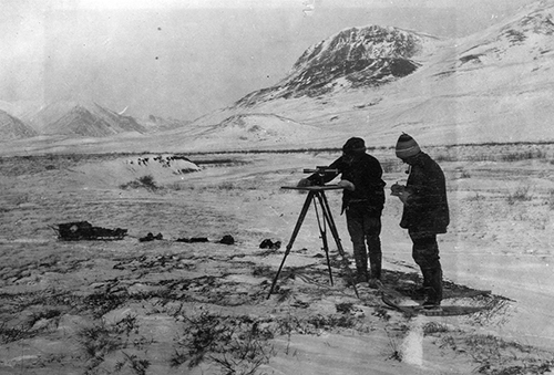 surveyors mapping Alaska