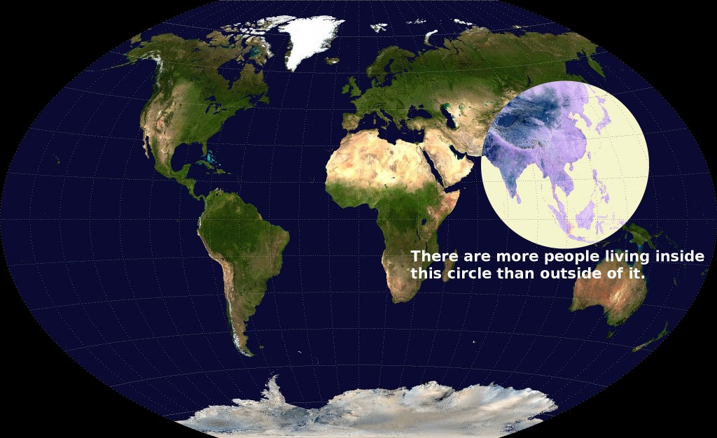 circle population map Asia