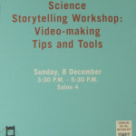 agu science storytelling workshop poster