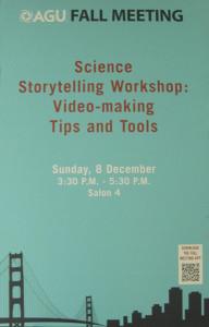 agu science storytelling workshop poster