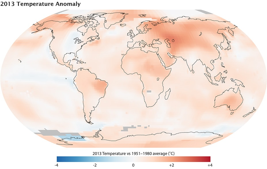 2013 Temperature Anomaly NASA