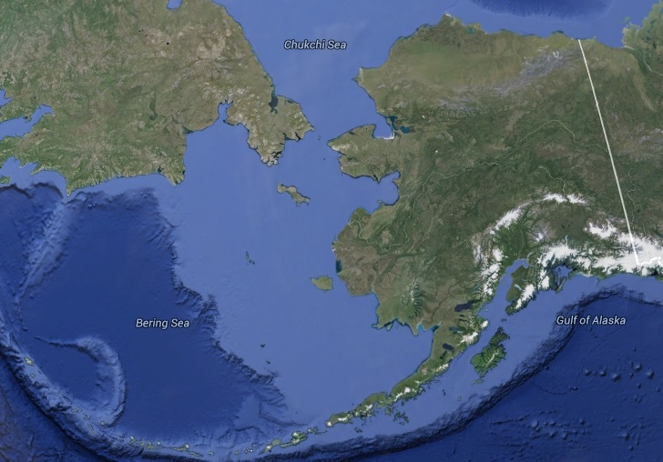 Bering Strait map