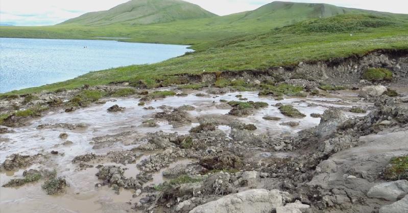 wolverine lake thermokarst alaska