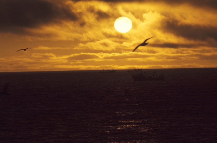 Bering Sea sunset