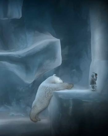 Never Alone: puzzle out how to outsmart a polar bear / Image E-Line Media & Upper One Games