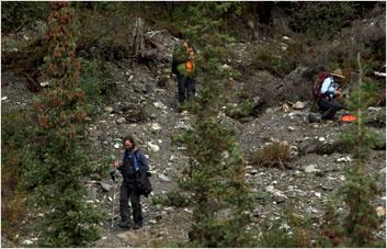Dynamic landslide slope Frozen Debris Lobes