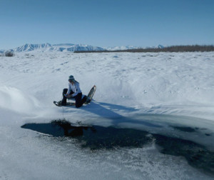 Arctic water sampling spring