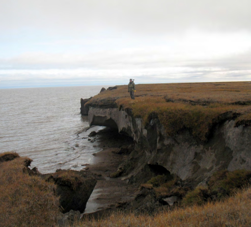 Alaska coast erosion permafrost degradation