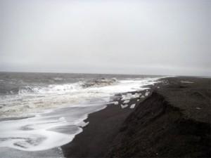 Nuvuk archaeological site beach