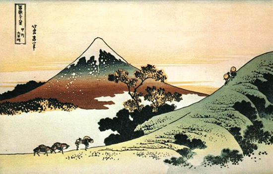 Mount Fuji from Inume Pass, Hokusai