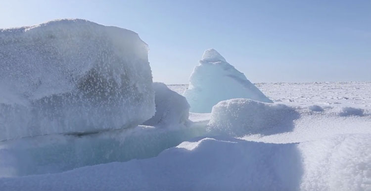 Scraping ocean floor sea ice tracking oil shipping concerns