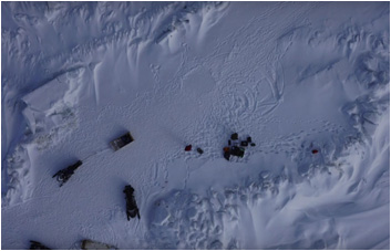 Mapping sea ice trails using Unmanned Aerial Vehicle photography
