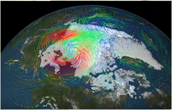 Isotope experiment discovers measures distant arctic cyclone / Courtesy NASA Goddard Space Flight Center