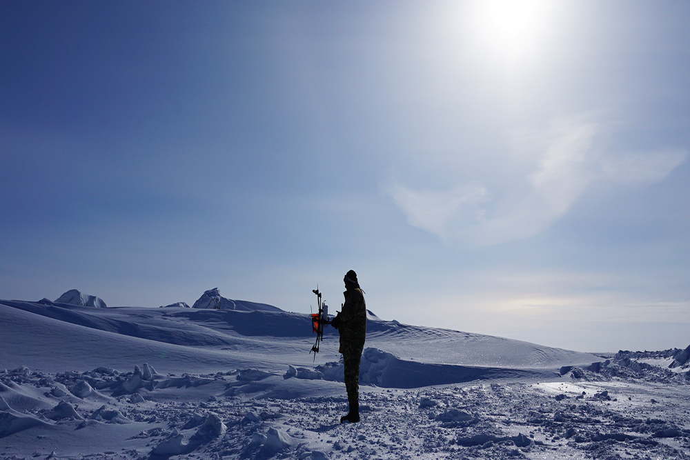 UAVs trail building potential sea ice maps