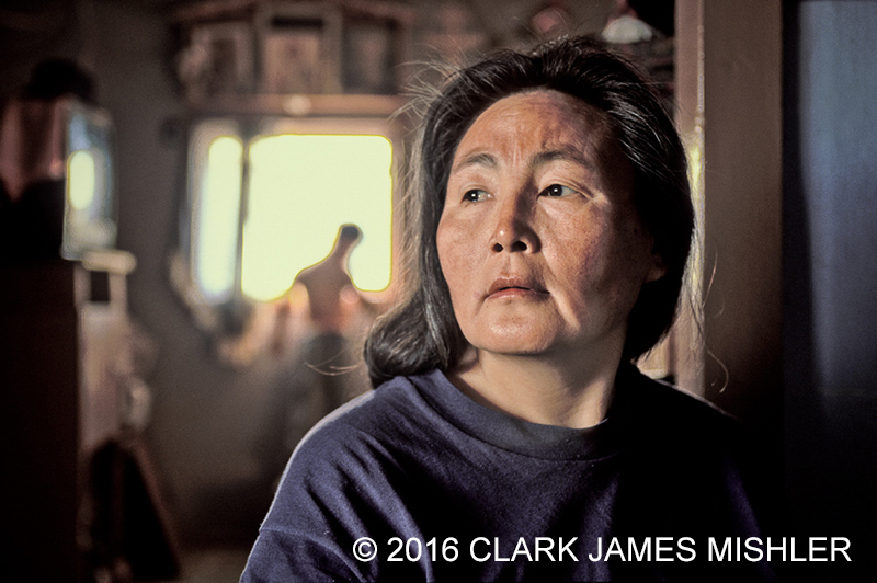 Vera Spein in her home, Kwethluk, Alaska / Photo by Clark James Mishler