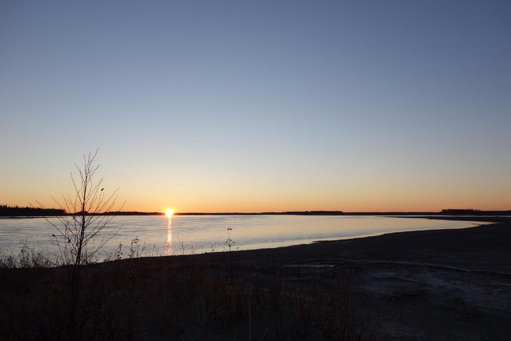 Pondering infinite Yukon Flats birds aurora
